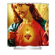 The Scared Heart Shower Curtain