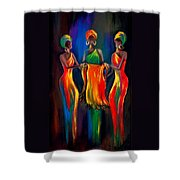 The Scarf Shower Curtain