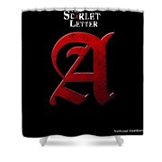 The Scarlet Letter Shower Curtain