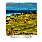 The Scenic Chambers Bay Golf Course - Location Of The 2015 U.s. Open Tournament Shower Curtain by David Patterson