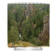 The Scenic Cheakamus River Gorge Shower Curtain