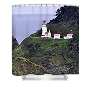 The Scenic Lighthouse Shower Curtain