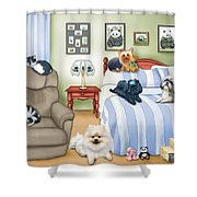 The Schofield S Bedroom  Shower Curtain