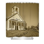 The Schoolhouse Hdr Shower Curtain