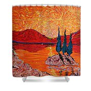 The Scot And The Mermaid Shower Curtain