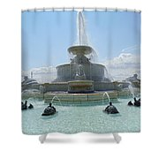 The Scott Fountain On Belle Isle Shower Curtain