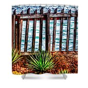 The Sea Fence Siesta Key Fla. Shower Curtain