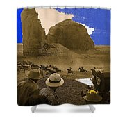 The Searchers   Cast And Crew Monument Valley Arizona 1956 Shower Curtain