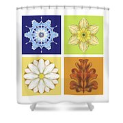 The Seasons Shower Curtain
