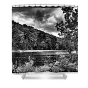 The Secluded Bald Mountain Pond Shower Curtain