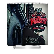 The Second Fiddle Shower Curtain