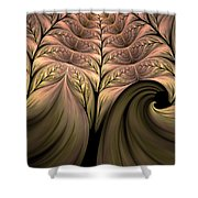 The Secret World Of Plants Abstract Shower Curtain