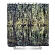 The Sentient Forest Shower Curtain