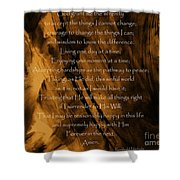 The Serenity Prayer Shower Curtain