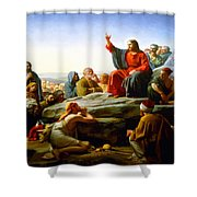 The Sermon On The Mount  Shower Curtain