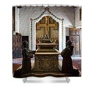 The Serra Cenotaph In Carmel Mission Shower Curtain