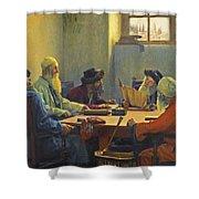 The Seven Rabbis In Jerusalem Shower Curtain