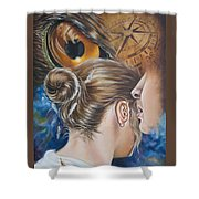 The Seven Spirits Series - The Spirit Of Counsel Shower Curtain