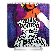 The Seven Year Itch German Shower Curtain by Georgia Fowler