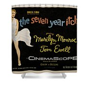 The Seven Year Itch Shower Curtain by Georgia Fowler