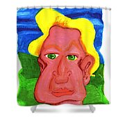 The Severely Svelte Sven Severin The 7th Shower Curtain by Del Gaizo