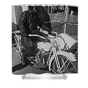 The Shadow Of The Eagle Homage 1932 Jack Wilson Stuntman Globe Arizona 1969 Shower Curtain