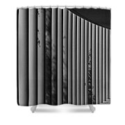 The Shadows And Pillars  Black And White Shower Curtain