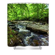 The Shankhill River Shortly Shower Curtain