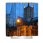 The Shard And Southwark Cathedral Shower Curtain