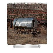 The Sheep Wagon Shower Curtain