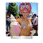 The Shell Queen Shower Curtain