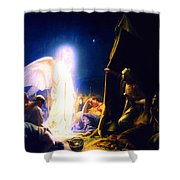 The Shepherds And The Angel Shower Curtain
