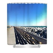 The Ship Comes Into The Port Shower Curtain