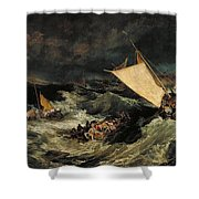 The Shipwreck Shower Curtain