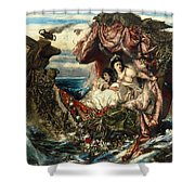 The Shipwreck Of Agrippina Shower Curtain