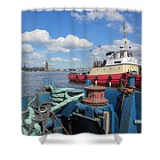 The Shipyard Shower Curtain