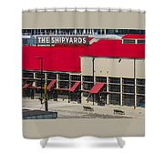 The Shipyards In Vancouver Shower Curtain