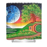 The Shires Moons  Shower Curtain