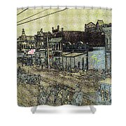 The Shootist Homage 1976 Unknown Photographer Parade Phoenix Arizona C.1880 Shower Curtain