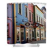 The Shops In Crested Butte Shower Curtain