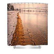 The Shore In Winter Shower Curtain