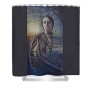 The Shore Of The Cosmic Ocean Shower Curtain