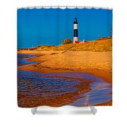 The Shore To Big Sable Shower Curtain