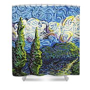 The Shores Of Dreams Shower Curtain
