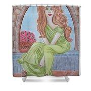 The Sibyl - Grecian Goddess Shower Curtain