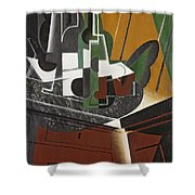The Sideboard, 1917 Oil On Plywood Shower Curtain