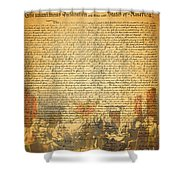 The Signing Of The United States Declaration Of Independence Shower Curtain