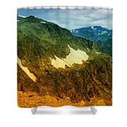 The Silent Mountains Shower Curtain