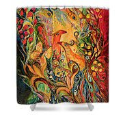The Silent Song Shower Curtain