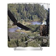 The Silent Watch Shower Curtain